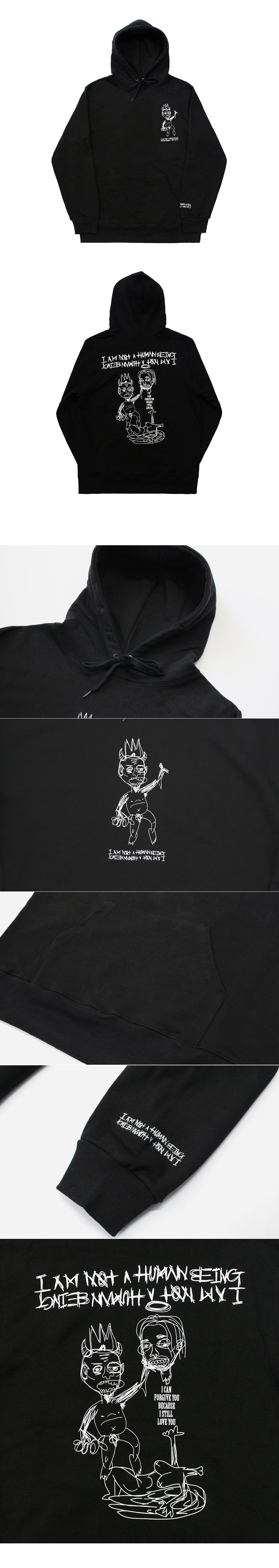 아임낫어휴먼비잉(I AM NOT A HUMAN BEING) [17FW]Still Love You Hoodie - Black