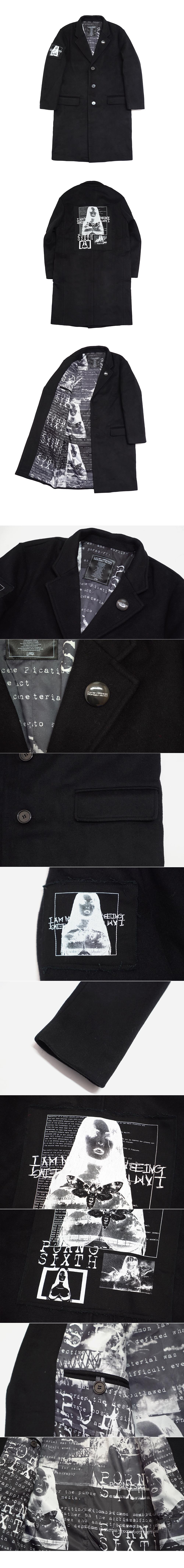 아임낫어휴먼비잉(17W) Porno 6 Single Coat - Black