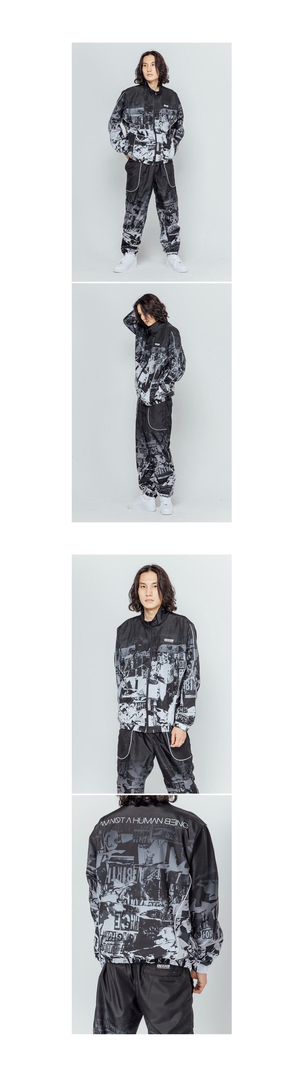 아임낫어휴먼비잉(18FW) TORN PICTURES TRACK PANTS - O/C