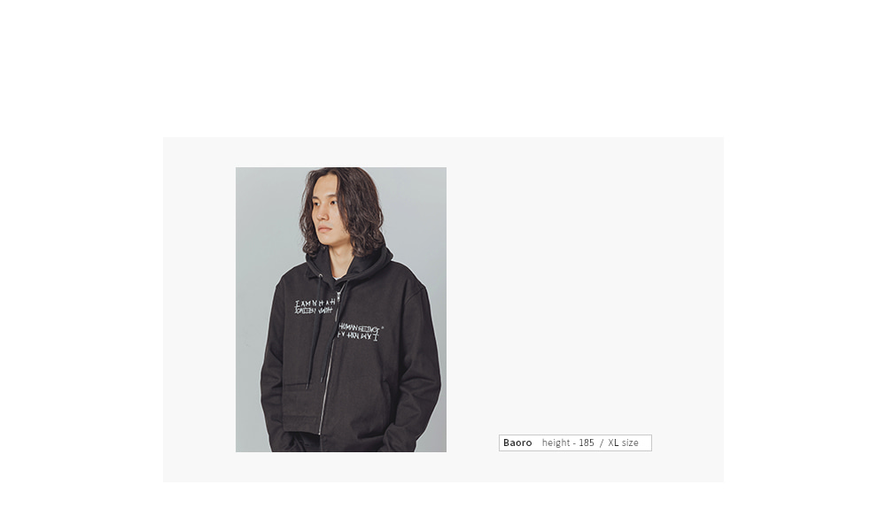 아임낫어휴먼비잉(18FW) AUTOGRAPH JACKET - GREY