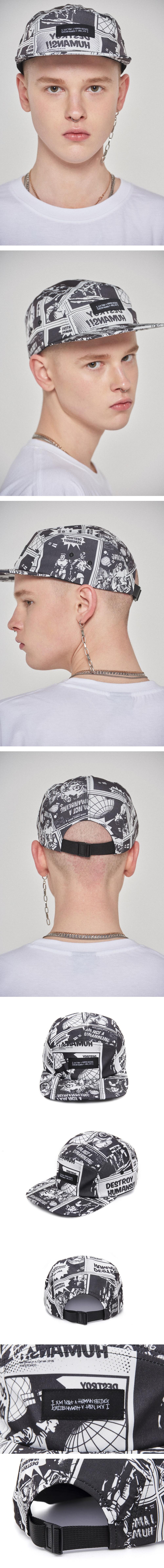 아임낫어휴먼비잉(I AM NOT A HUMAN BEING) Printed Camp hat - WHITE