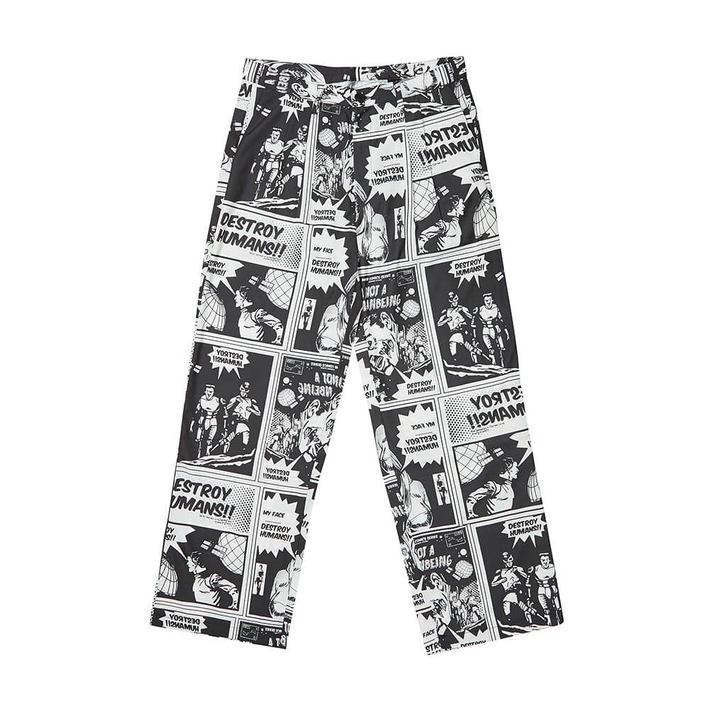 Comics Pants - WHITE