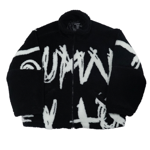 BIG SPELL BOA FLEECE JACKET - BLACK