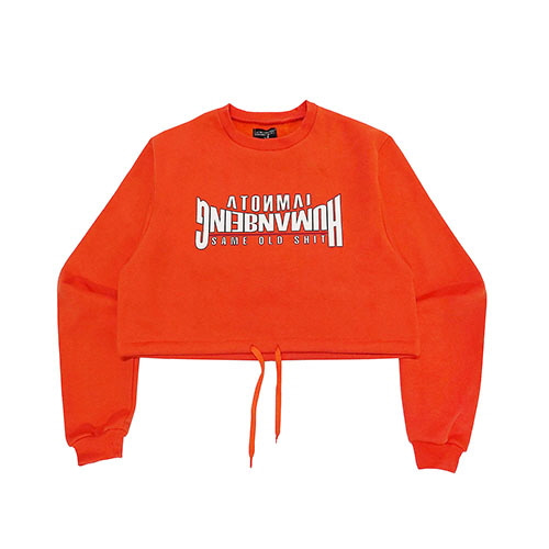 ARCH LOGO CROP SWEAT SHIRT - ORANGE